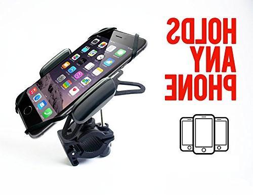 "Widras Premium and Motorcycle Gen Phone Mount Adjustable, Fits X 8 | Plus, Plus, 6s Plus S9 S6 Holds 3.5"""
