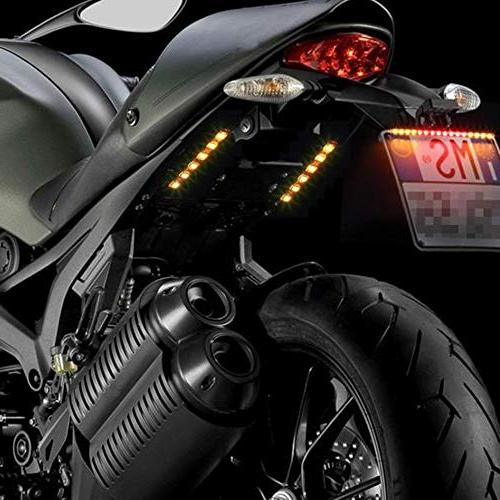 Car LED Black Turn Amber Strip for Motorcycle License Blinkers Plate etc.