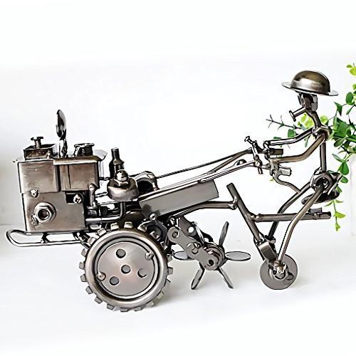 collectible sculpture handmade metal motorcycle
