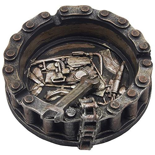 Decorative with Wrench and Bike Motif Biker Mechanics Decor Men or