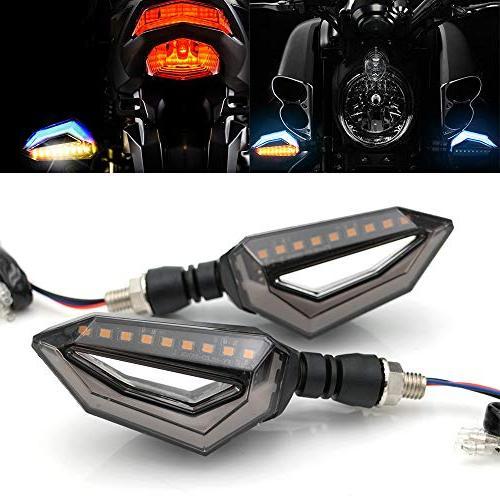 evomosa Turn Signal Blinker Front Rear Lights Motorbike Harley Cruiser Honda BMW Suzuki Pairs