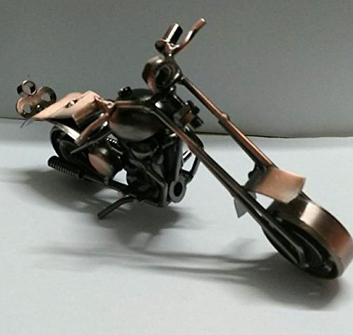 handcrafted metal motorcycle retro classic