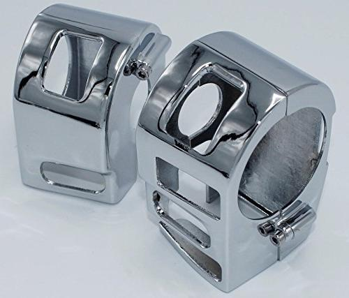 i5 Chrome Switch Housing Covers for Yamaha V-Star 1100 Class