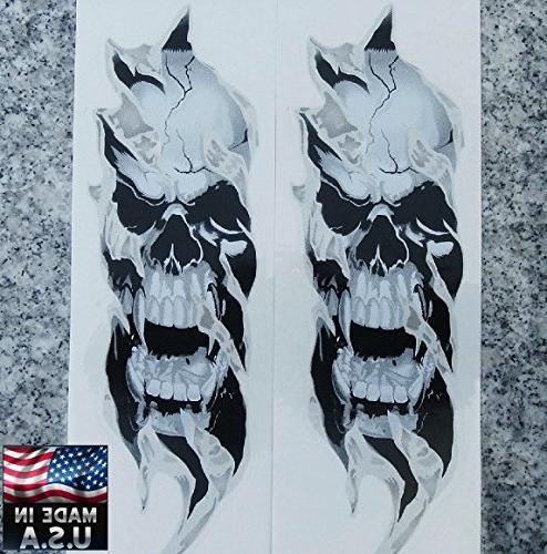 i5 Fork Skull Decals for Kawasaki Yamaha