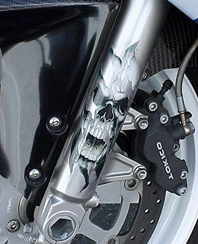 i5 Fork Skull Decals for Honda Kawasaki Suzuki Yamaha Harley