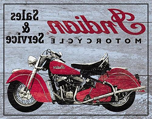 indian motorcycles service tin sign