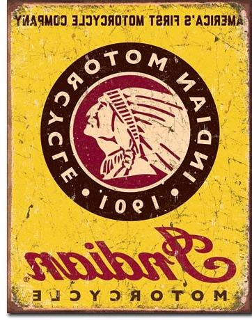 Indian Sign - Indian Scout, Motorcycles Indian and Indian