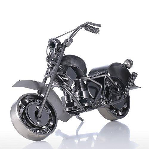 iron motorcycle crafts modern sculpture