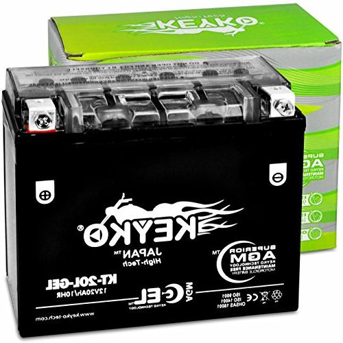 Kawasaki 750cc JT750 1998 Motorcycle Sealed Maintenance Free AGM GEL High Performance KEYKO -