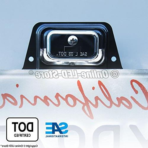 LED Lights Tag Lights Trucks Chrome