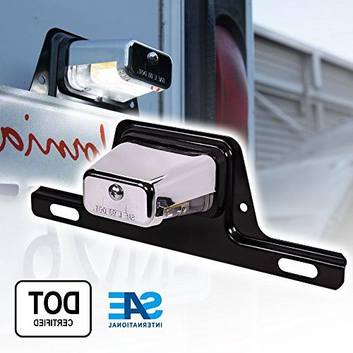 led trailer license plate lights w bracket