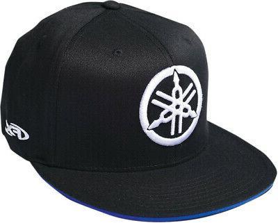 licensed yamaha fork flex fit hat black