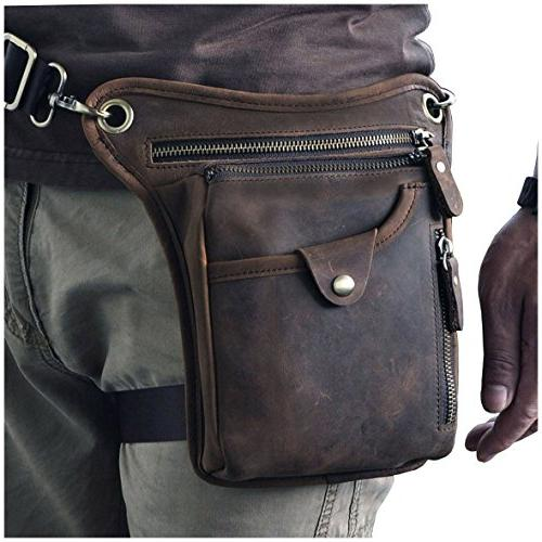mens genuine leather messenger riding