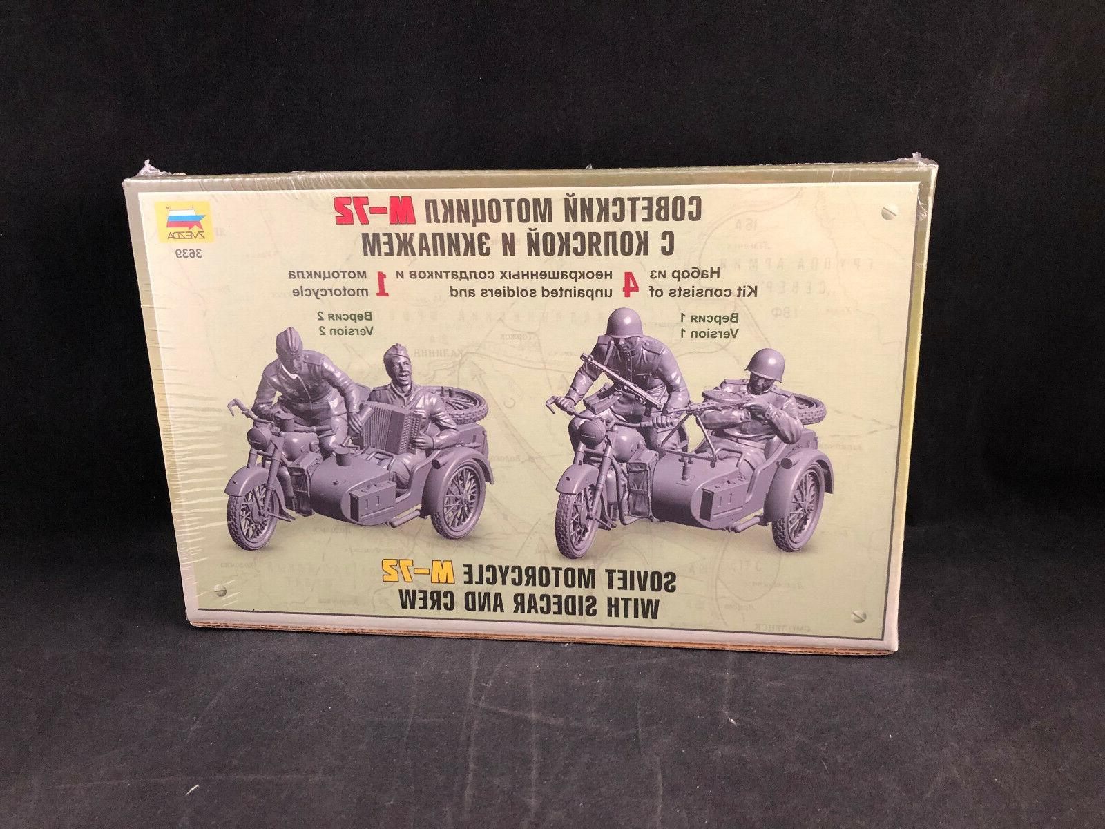Zvezda Motorcycle M-72 w/Sidecar & Scale 3639