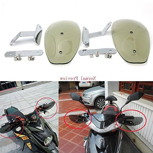 Smoke Motorcycle Handguard Hand Guards Wind Cold Protector Windshield Deflectors Curve