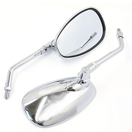 uxcell 10mm Motorcycle Rearview Mirrors For Cruiser Chopper