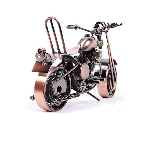 VintageBee Vintage Motorbike Model Collectible Iron Art Sculpture for Motorcycle modern ornaments birthday for Photography