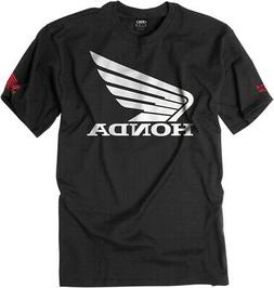 Factory Effex Licensed Honda Big Wing T-Shirt Black Mens All