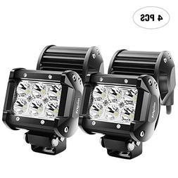 LED Light Bulbs Bar Nilight 4PCS 18W 1260lm Spot led pods Dr