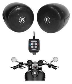 Rockville Motorcycle Bluetooth Audio System Handlebar Speake