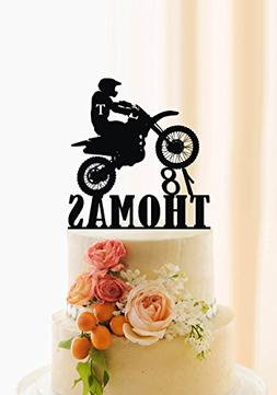 Motorcycle Cake Topper Birthday Cake Topper Personalized Nam