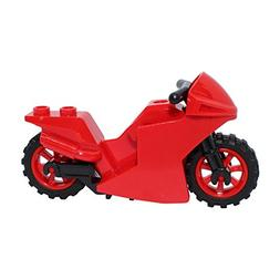 LEGO Parts and Pieces: Red with Black Frame Racing Motorcycl