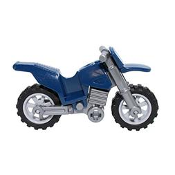 LEGO Parts and Pieces: Dark Blue Dirt Bike Motorcycle with F