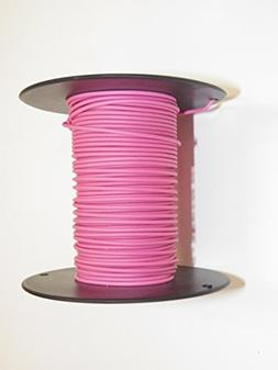 PINK, 20 GA AWG TXL Wire, 100' Spool, For Automotive, Truck,