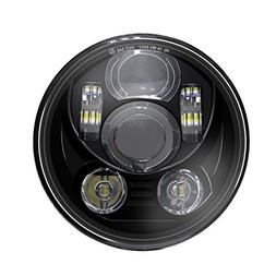 """Wisamic 5-3/4"""" 5.75"""" LED Headlight - Compatible with Harley"""