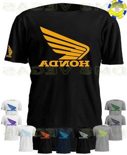 Honda Racing Motorcycle ATV Wing Logo Tee Shirt Men Unisex S