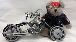 Recycled Metal Part Motorcycle Sculpture Collectible Model B