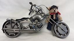 Recycled Metal Part Motorcycle Sculpture Die Cast Harley Dav