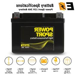 replacement ytx4l bs 12v 3ah battery