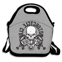 Zofmkgdji Skull-Motorcycle Parts Simple Outdoor Lunch Bag Lu