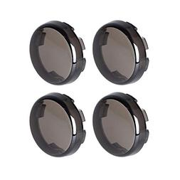 NTHREEAUTO Smoked Bullet Turn Signal Light Lens Cover Compat