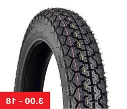 Tire Size 3.00 - 18 Front/Rear Motorcycle Tubetype - Street