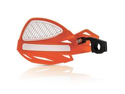 uniko mx vented handguards 16 orange white