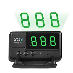 LeaningTech Original Digital Universal Car HUD GPS Speedomet