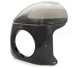 Viper Retro Cafe Racer Motorcycle Fairing - Gloss Black w/ S