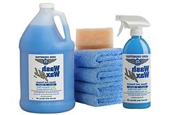Aero Cosmetics Wet or Waterless Car Wash Wax Kit 144 Ounces.