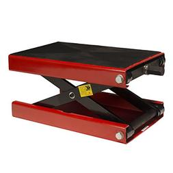 1100 LB Wide Deck Motorcycle Center Scissor Lift Jack Hoist