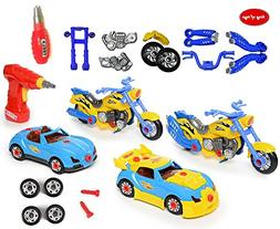 King Of Toys World Racing Motorcycle & car Take-A-Part Toy f