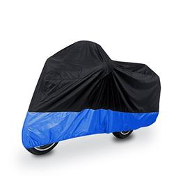 uxcell XL 180T Rain Dust Protector Black+Blue Scooter Motorc