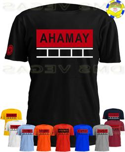 yamaha red classic motorcycle tee shirt men