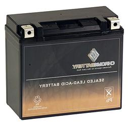 Chrome Battery YTX20HL-BS High Performance Power Sports Batt